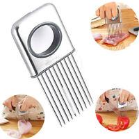 Easy Onion Holder Slicer Vegetable Tomato Cutter Stainless Steel Kitchen Gadgets