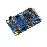 Mini PCIE PCI Express to Dual USB 3.0 ports 19pin 20pin Expansion Adapter Card
