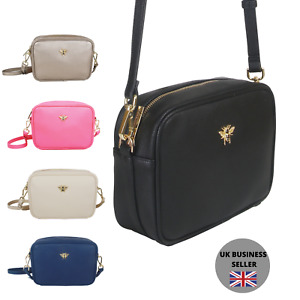 Ladies Luxury Crossbody Bag - Gold bee by Alice Wheeler CAMERA style