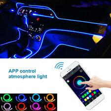 Blue Red RGB LED Car Fiber Optic Interior Lamp Decorative Ambient Light Strip 4M