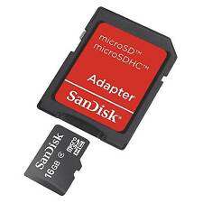 16gb SanDisk MicroSD SDHC Class 4 TF C4 Memory Card Genuine With Adapter