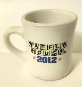 2012 Waffle House Restaurant Tuxton Diner Style Coffee Mug America The Beautiful
