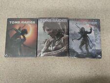 3x Tomb Raider Steelbook - sehr selten - NEU - Custom - NO GAME