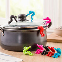 POP Kitchen Tools Cooking Gadget Funny Lid Resistant Holder Spill-proof CY2