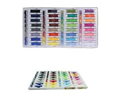 64 PC SEWING THREAD SET 32 assorted colours 100% Polyester Contains 32 bobbins