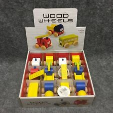 (12) Westminster Wood Wheels Toy Trucks & Cars SET New In Box Ages 3+