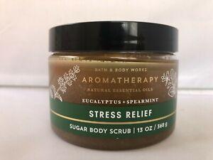 NEW Bath & Body Works AROMATHERAPY Stress Eucalyptus Spearmint SUGAR SCRUB 13oz