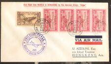 1937 Manila Filippine First Flight Posta Aerea Cover Ffc a Hong Kong tramite Paa