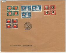 61152  - SWITZERLAND - POSTAL HISTORY:   PRO JUVENTUTE blocks of 4 on COVER 1928