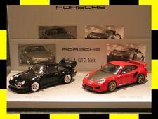 Porsche History Set 911 (993 und 997) GT2 / RS MINICHAMPS 1:43 PROMO NEU
