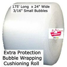 175 Ft 316 Bubbles 24 Wide Wrapping Cushioning Roll Padding Perf 12 Pockets