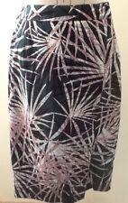 Saba Pencil Skirt, Size 6, Cotton, Tropical Print