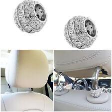 4pcs Chrome Crystal Bling Car Headrest Collar Interior Head Rest Pole Decoration