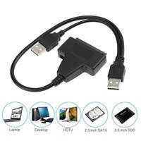 """USB 2.0  zu SATA 2.5""""/3.5"""" Externe HDD SSD Festplatte Adapter Konverter Kabel PC"""