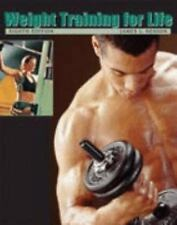 Weight Training for Life by James L. Hesson (2006, Spiral, Revised)-Free Ship!