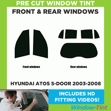 Pre Cut Window Tint - Hyundai Atos 5-door Hatchback 2003-2008 - Full Kit