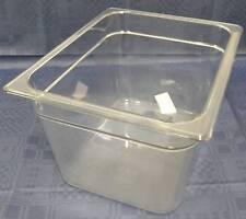 RUBBERMAID GN 1/2 200 mm tief Gastronorm-Behälter Polycarbonat klar ohne Griffe