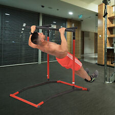 Portable Pull Up Dip Station Gym Bar Power Tower Stretch Workout Multi Function