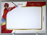 SHOHEI OHTANI 2018 IMMACULATE COLLECTION JUMBO JERSEY Card #IJ-SO Ser.#'d 28/99
