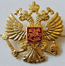 Russian Army Military Imperial Eagle Hat Cap Beret Metal Pin Badge Good Quality