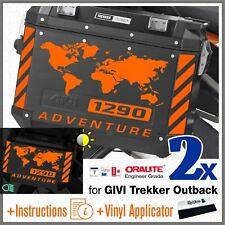 8x KTM 1290 ADVENTURE Reflective Orange STICKERS ADESIVI GIVI TREKKER OUTBACK