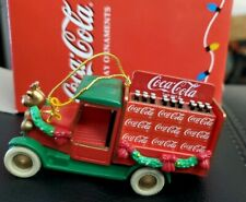 Rare 1996 Enesco Coca Cola Delivery Truck Holiday Ornament In Box