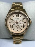 Fossil AM4483 Cecile Women's Stainless Steel Analog Rose Gold Dial Watch Ff138