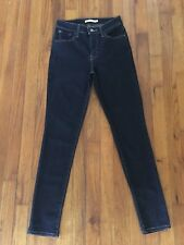 Levis Womens 721 High Rise Skinny Dark Indigo Blue Denim Jeans Size 26 x 28L EUC