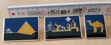 Camel label pin: camel, pyramid, silhouette Pin set, swiss edition, set of 3