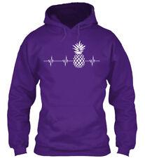 Pineapple Heartbeat Gildan Hoodie Sweatshirt