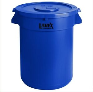 Heavy Duty Commercial Trash Can w/ Lid 32 Gallon Durable Garbage Can w/ Handles