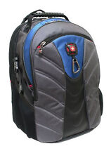 WENGER SWISSGEAR RIVAL COMPUTER BACKPACK  (black gray blue)