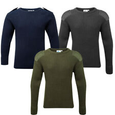 Combat Jumper Crew Neck Blue Castle Army Military Style Warm Work Security Top