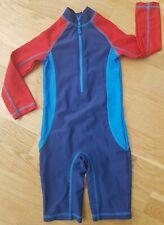 John Lewis 5 Years boy Sun Safe Protection UV Swim suit Costume blue red