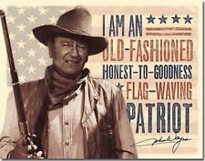 John Wayne Patriot Tin Metal Sign 13 x 16in