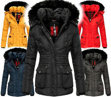 MARIKOO Damen Sehr Warm Winter Jacke Parka Winter Mantel Teddyfell Stepp Vanilla
