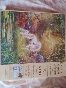 Sunsout Enchanted Garden Unicorns Jan Patrik Krasny 500 Piece Puzzle #24415 New
