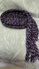 "Item7089:  Powder Horn inkle loom strap belt black purple wool  36"" long"