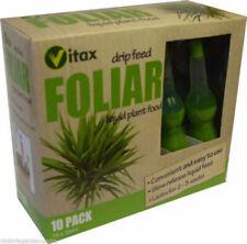 Vitax Foliar Drip Feeders 4 X 10ml - Liquid House Plant Food