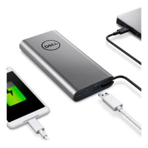 Dell PW7018LC Power bank Silver - 65Wh USBC/A Suits Phone & Laptop - Open Box