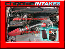 07-08 CHEVY/GMC 1500/2500/3500/HD 4.8L/5.3L/6.0L/6.2L V8 COLD AIR INTAKE+K&N RED