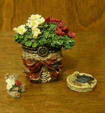 Boyds Treasure Boxes #392121 BLOOMIN' BASKET, 2 Ed, NEW from Retail Store,MIB