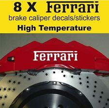 8 X Ferrari Brake Caliper Decal Sticker Vinyl Emblem Graphics High Temperature_A