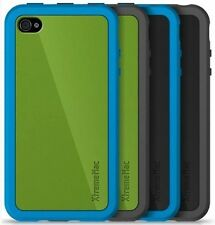 XtremeMac Customize iPhone 4 case Black Green w Tuffshield Screen protector x 2