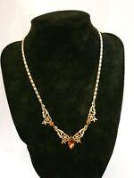 "Art Deco Rodi & Weinenberger Rowi Rolled Gold Drop Necklace 10 Grams - 16"" chain"