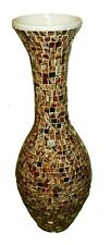 Robuste Amphore Boden Vase 70x26 Terrakotta Mosaik Vase Handarbeit Glasmosaik