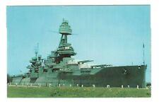 Battleship Texas Houston Texas Vintage Postcard AF66