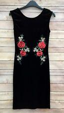 SALE! Ladies Black Velour Bodycon Dress Size 12 BNWT