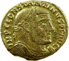 312-313 A.D.  Constantine I  AE Follis  Thessalonica RIC VI 61b  Extra Nice Coin