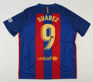 Luis Suarez Signed FC Barcelona NIKE Jersey (Beckett COA)2XL